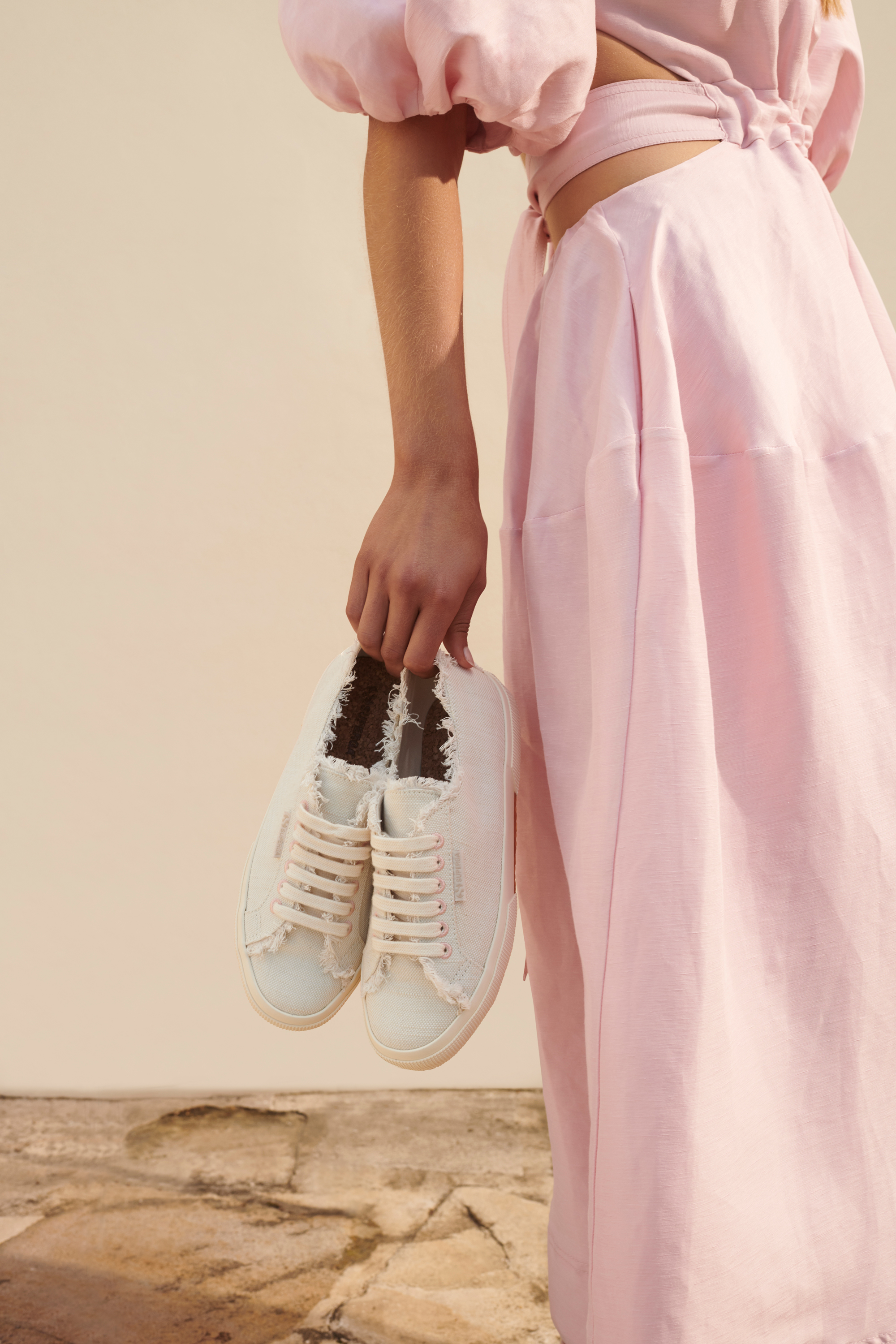 The Superga x Aje High Platform Sneaker with the Mimosa Cut Out Midi Dress