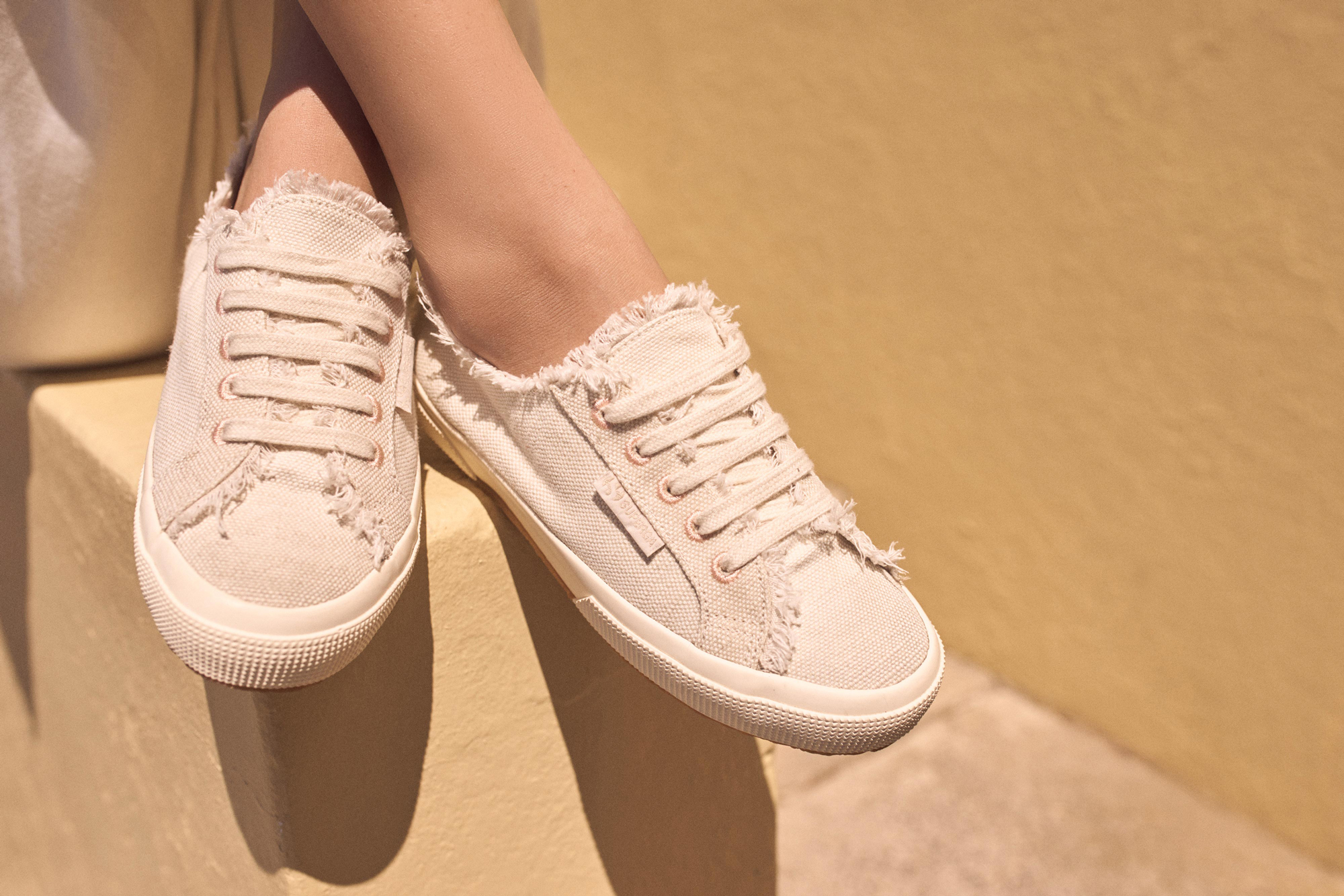 The Superga x Aje Low Platform Sneaker